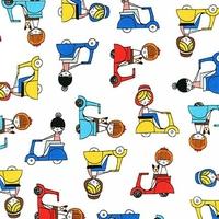 DERNIER COUPON Tissu Oui Oui Paris Scooter 1m35 x 110 cm