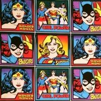 Tissu Vignettes Marvel Super Héroïnes 30 x 110 cm
