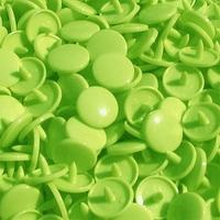 30 pressions KAM résine rondes taille 20 coloris vert lime