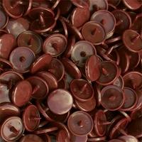 30 pressions KAM résine rondes taille 20 coloris marron