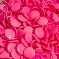 30 pressions KAM résine rondes taille 20 coloris raspberry pink