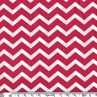 Tissu chevron rouge 20 cm x 140 cm