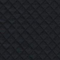 COUPON de Jersey matelassé FDS noir 50 x 130 cm
