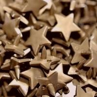 30 pressions KAM résine étoiles taille 20 coloris or/bronze