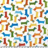 Tissu Enduit Teckels 20 x 150 cm