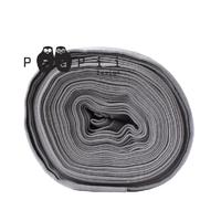 Bord-côte taupe / gris moyen 20 x 90 cm