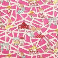 DERNIER COUPON Tissu Danseuses Parisiennes coloris rose 95 x 110 cm
