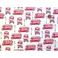 Tissu Bus Londonien 20 x 110 cm