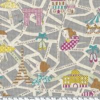 Tissu Danseuses Parisiennes coloris gris 20 x 110 cm