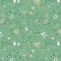 DERNIER COUPON Tissu Sketchbook Doodlie Mander bleu vert 1m x 110 cm