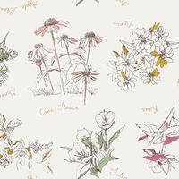 Tissu Sketchbook Botanical Impression 20 x 110 cm