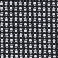 DERNIER COUPON Tissu Panda Noir 75 x 110 cm