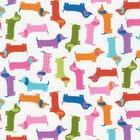 Tissu Urban Zoology Mini Teckels 20 x 110 cm