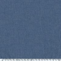 Tissu Première Etoile uni coloris jean denim aspect chambray 20 x 140 cm