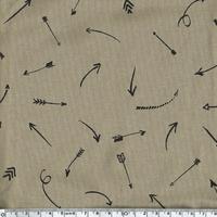 Comme une flèche, jersey viscose tabac, 20 x 140 cm