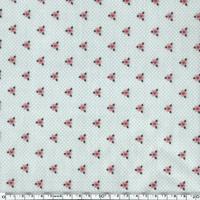 Toile enduite fleurs coeurs fond gris 20 cm x 130 cm