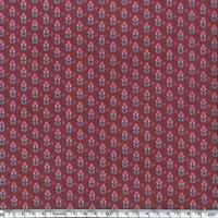 Toile enduite mini fleurs fond bordeaux 20 cm x 130 cm
