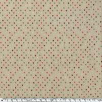 Toile enduite mini étoiles fond sable 20 cm x 130 cm