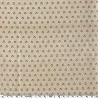Toile enduite mini tulipes fond sable 20 cm x 130 cm