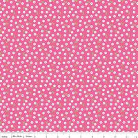 Tissu Summer Song 2 Pétales fond rose 20 cm x 110 cm