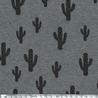 Cactus, sweat léger gris chiné 20 x 140 cm