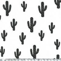 DERNIER COUPON Cactus, sweat léger lait 60 x 140 cm