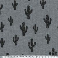 Cactus, jersey viscose gris chiné 20 x 140 cm