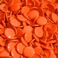 30 pressions KAM résine rondes taille 20 coloris orange