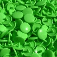 30 pressions KAM résine rondes taille 20 coloris vert clair