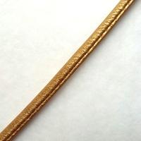 Cordon simili cuir doré 50 cm
