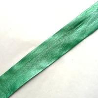 Biais simili cuir vert turquoise 50 cm