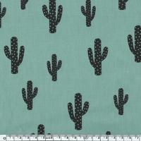 Cactus, poly/coton coloris menthe glacée 20 x 140 cm
