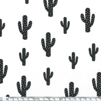 Coupon de poly/coton Cactus chantilly, 1m50 x 140 cm
