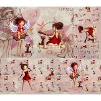 Coupon Rockeuse par Laure Phélipon env. 40 x 45 cm (sergé)