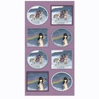 Panneau Santoro Gorjuss Rainbow Dream avec 8 visuels 60 x 110 cm