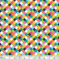 Tissu Colorific petit damier tressé 20 x 110 cm