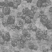 COUPON Tissu Wonderland Owly Boo 1m x 110 cm