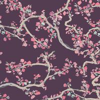 Tissu Voile de coton Enchanted leaves Plum 20 x 132 cm