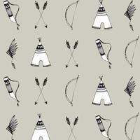 Jersey Arcs et flèches fond gris 20 x 160 cm