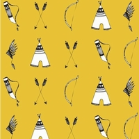 Sweat Arcs et flèches fond jaune 20 x 160 cm