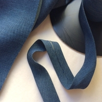 Biais Tencel bleu foncé 50cm