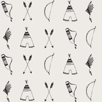 Jersey Arcs et flèches fond sable 20 x 160 cm