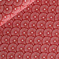 Popeline Blowballs rouge 20 x 140 cm