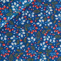 Popeline Forest treasures bleu 20 x 140 cm