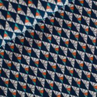 Popeline Inca sunset bleu acier foncé 20 x 140 cm