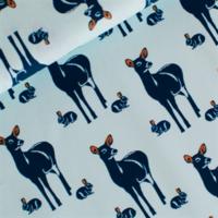 Popeline Oh deer bleu clair  20 x 140 cm