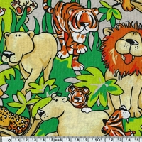 Tissu Animal Party 20 x 110 cm