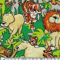 DERNIER COUPON Tissu Animal Party 58 x 110 cm