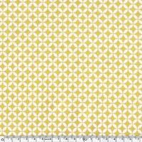 Tissu mini anneaux moutarde 20 x 110 cm