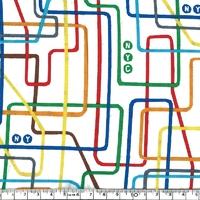Tissu Soho plan de métro 20 x 110 cm